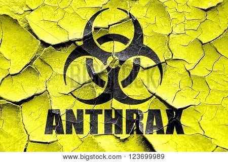 Grunge cracked Anthrax virus concept background with some soft smooth lines