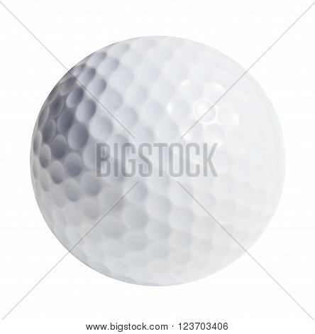 Golf ball isolated on white background. Clipping path