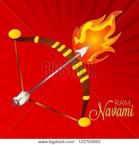 creative a background for happy ram navami.