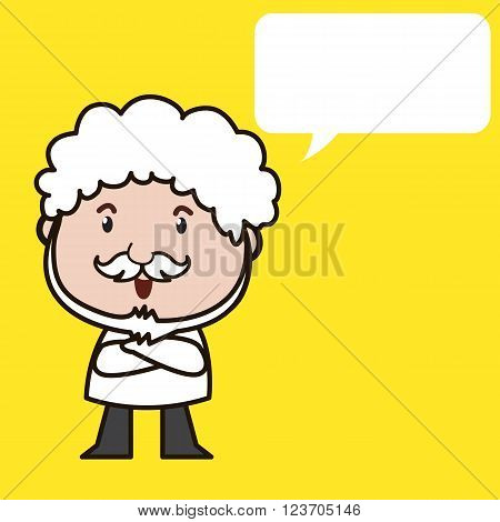 Old man with white Mustache and white hair