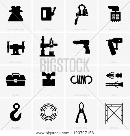 Set of industrial objects ( shade pictures )