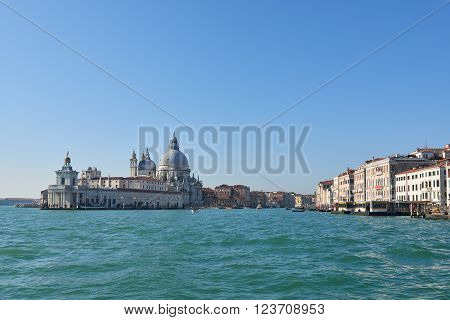 Basilica di Santa Maria della Salute (Saint Mary of Health) a Roman Chatholic church and minor basilica located in the Dorsoduro sestiere in Venice a city in northeastern italy.