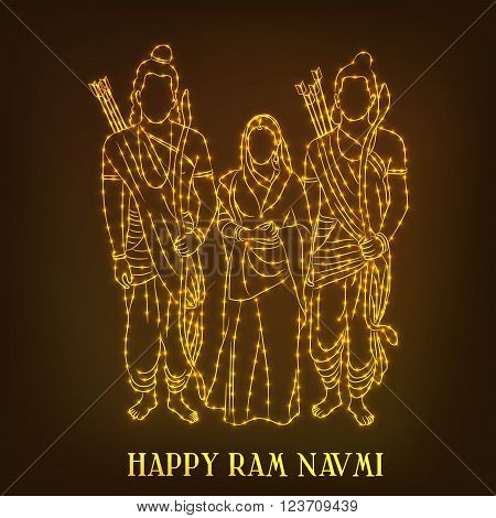 creative a beautiful background for Happy Ram Navami.