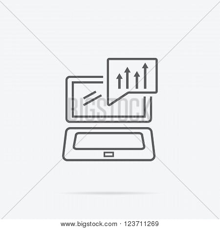 Price movement. Stock exchange rates on monitors. Profit graph for diagram. Electronic stock numbers. Profit gain. Business stock exchange. Live online screen. Flat icon modern design style concept