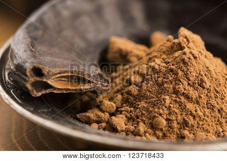 Carob Pods And Carob Powder