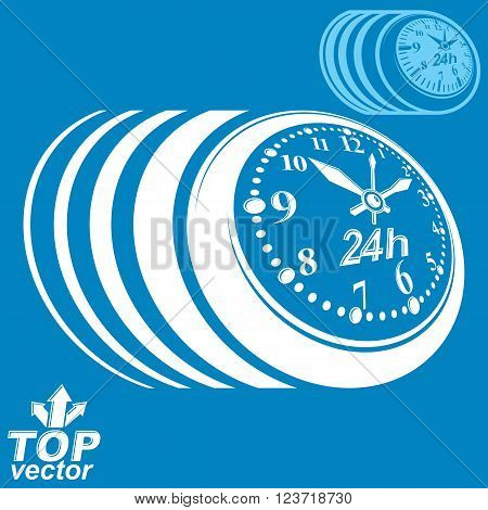 Twenty-four Hours A Day Conceptual Vector Eps 8 Highly Detailed Illustration. 24 Hours Icon, Include