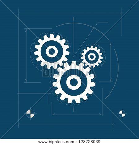 Gears, Teamwork, Joint Effort ,Team Effort, Logo Design Element Vector Illustration