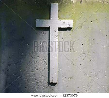 Brick Cross on Building Wall