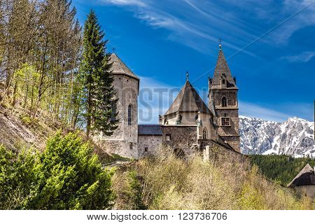 Gothic Parish Church Of Saint Oswald - Eisenerz Styria Austria Europe