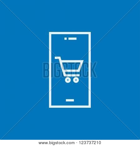 Online shopping line icon.