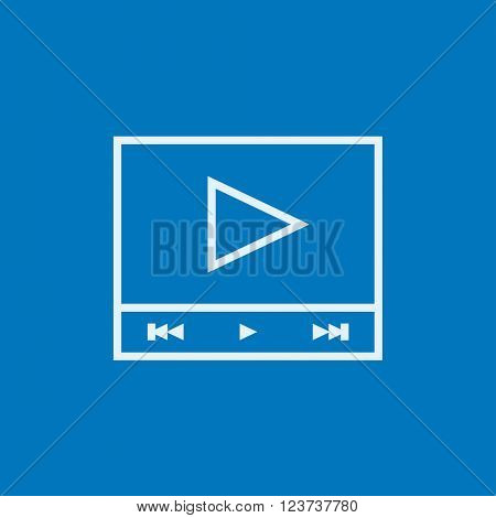 Video player line icon.