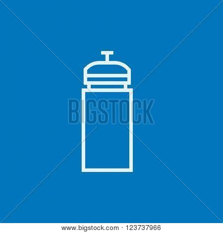 Sport water bottle line icon.