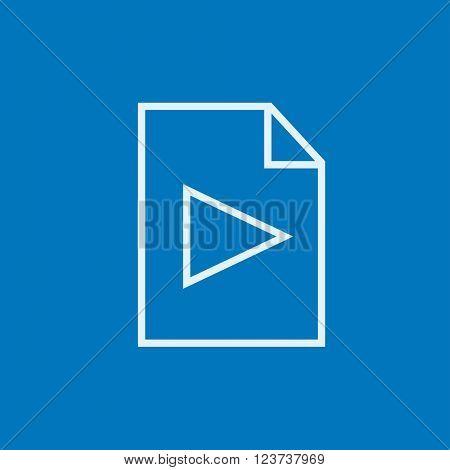 Audio file line icon.