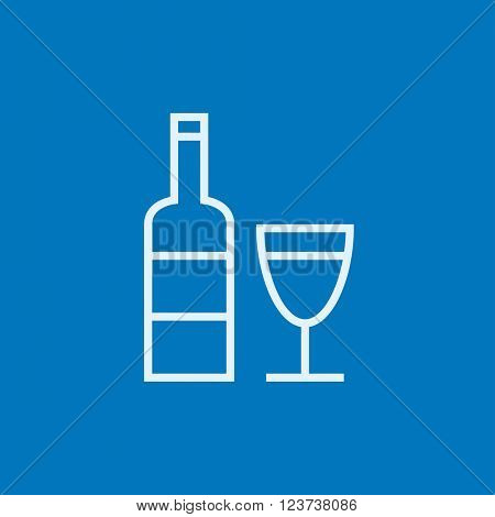 Bottle of wine line icon.