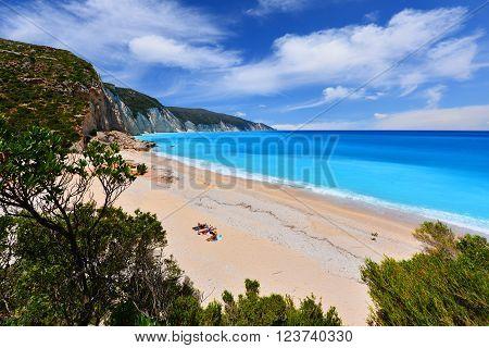 Fteri beach in Kefalonia- Greece Cephalonia island