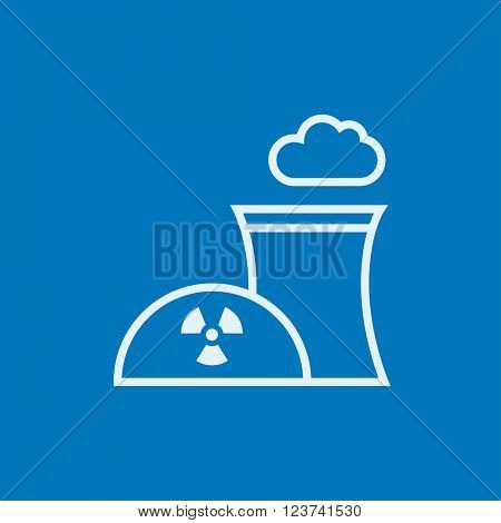 Nuclear power plant line icon.