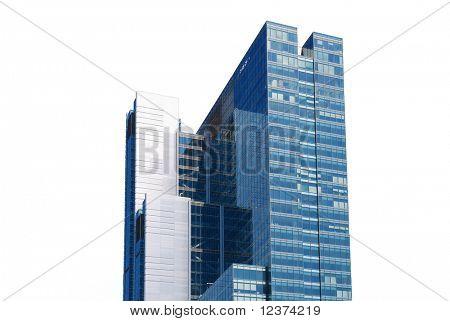 skyscraper on white