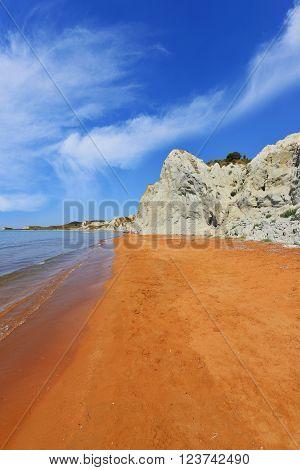 Xi Beach On Kefalonia Island - Greece