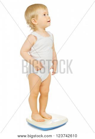 Little baby isolated on white