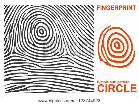 Black fingerprint. Fingerprint shape. Fingerprint secure. Fingerprint identification. ID fingerprint. Push fingerprint for unlock. Fingerprint pressure. Fingerprint vault. Vector Fingerprint.