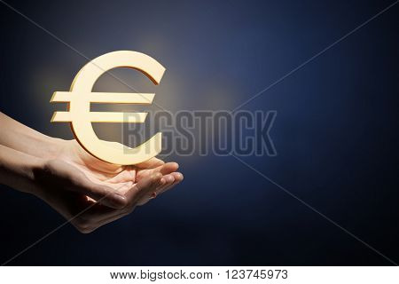 Currency glowing symbols
