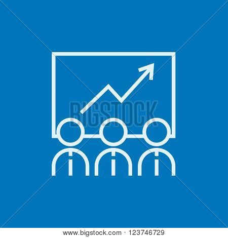 Business growth line icon.