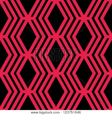Bright rhythmic textured endless pattern vertical continuous intertwine textile geometric motif background with splicing ornament.