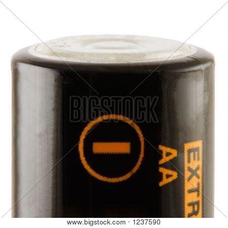 Battery Aa. Negative
