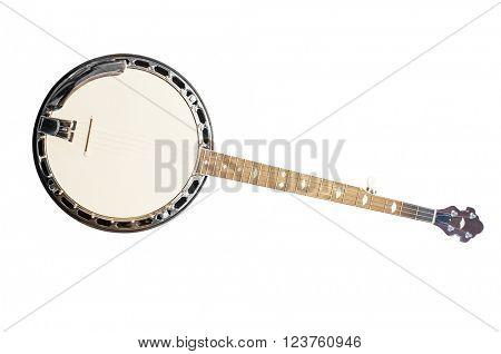 banjo isolated under the white background