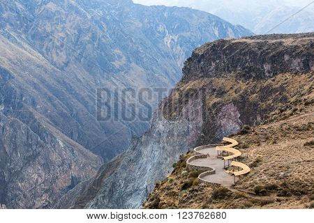beautiful lookout in the mountains of Peru