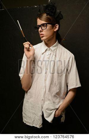 Young Man At Dramatic Image