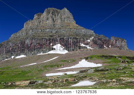 Mount Clements Logan Pass Glacier National Park