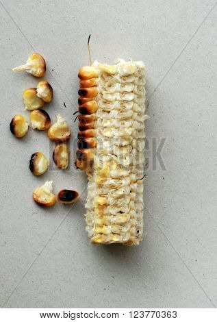 Picture of a Roasted corn. Healhty food concept