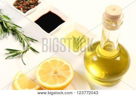 fresh seasoning on white background