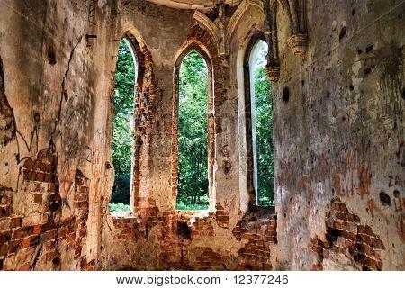 Window of medieval castle