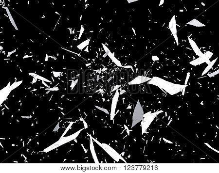 Pieces Of Destructed Or Shattered Glass