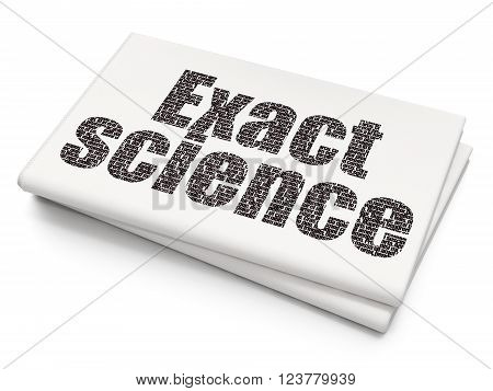Science concept: Exact Science on Blank Newspaper background
