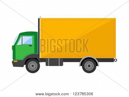 Autotruck vector Tipping lorry  Tripper truck vector icon isolated