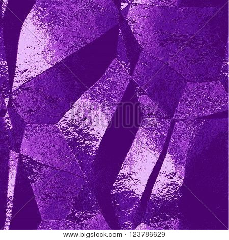 Abstract purple, pink and blue scratched background resembling brushed metal foil