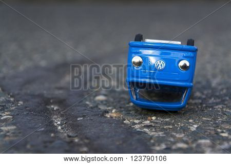 Prague, Czech Republic - March 23: Illustrative Photo Of Volkswagen Toy Car For Diesel Engine Emissi