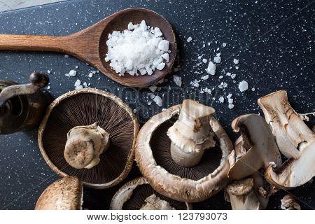 Closeup Of Organic Mushrooms