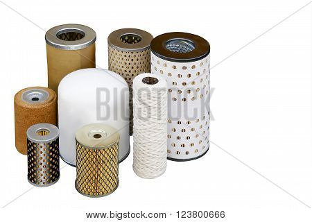 Different oil filters for the fine purification of motor oils