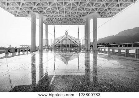 Shah Faisal Mosque is one of major landmark and attraction of Islamabad Pakistan.