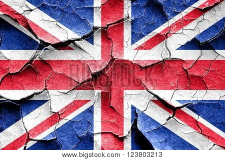 Grunge Great britain flag with some cracks and vintage look poster