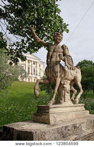 Centaur On Centaurs Bridge In Pavlovsk Park, Garden And Pavlovsk Palace Of 18Th Century, Neighborhoo