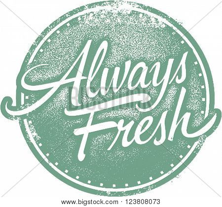 Always Fresh Food Product Stamp
