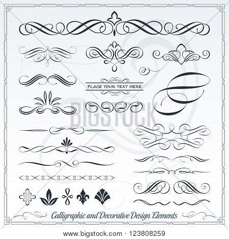 Calligraphic Decorative Elements