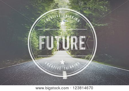 Future Futuristic Forcast imagine Time Vision Plan Concept