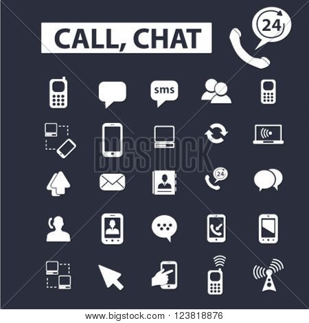 call,chat icons