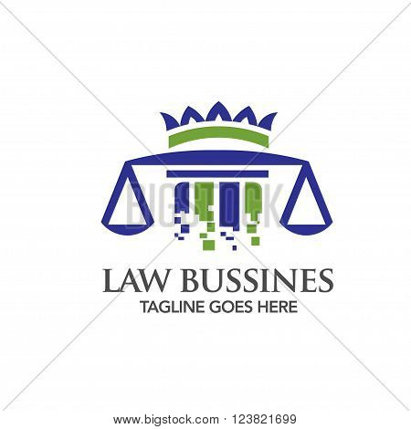 digital technology Law legal Building and Justice logo